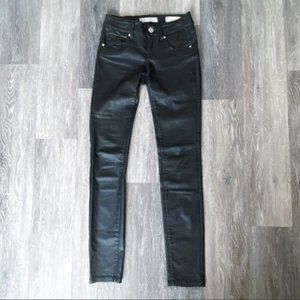 Guess Size 24 Black Skinny Fake Leather Pants